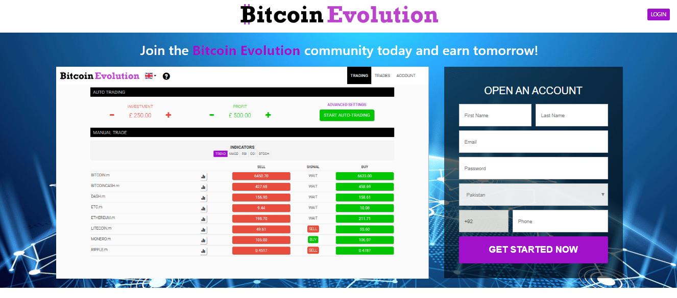 bitcoin evolution trading)